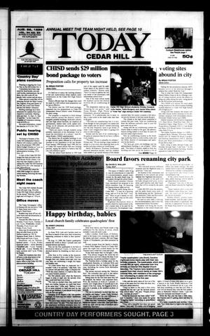 Primary view of object titled 'Today Cedar Hill (Duncanville, Tex.), Vol. 34, No. 23, Ed. 1 Thursday, August 26, 1999'.