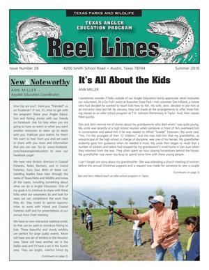 Primary view of object titled 'Reel Lines, Issue Number 28, Summer 2010'.