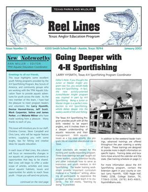 Primary view of object titled 'Reel Lines, Issue Number 11, January 2002'.