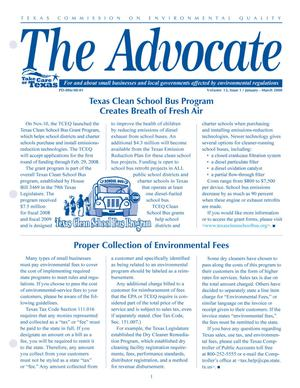 Primary view of object titled 'The Advocate, Volume 13, Issue 1, January-March 2008'.