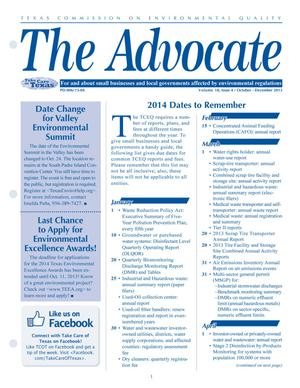 Primary view of object titled 'The Advocate, Volume 18, Issue 4, October-December 2013'.