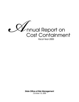 Primary view of object titled 'Texas State Office of Risk Management Annual Report on Cost Containment: 2005'.