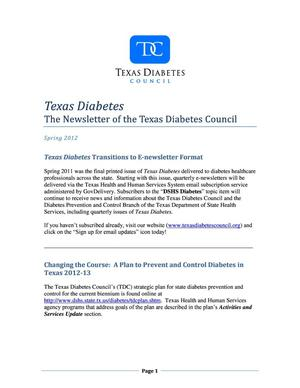 Primary view of object titled 'Texas Diabetes, Spring 2012'.