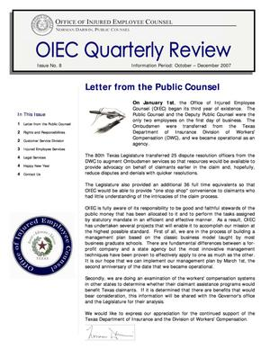 Primary view of object titled 'OIEC Quarterly Review, Number 8, October-December 2007'.
