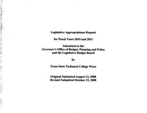 Primary view of object titled 'Texas State Technical College Waco Requests for Legislative Appropriations: 2010 and 2011'.