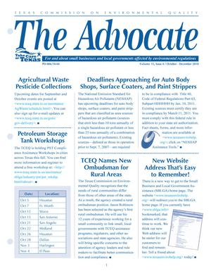 Primary view of object titled 'The Advocate, Volume 15, Issue 4, October-December 2010'.