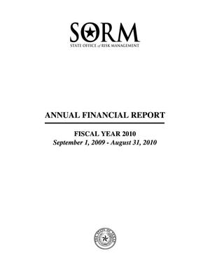 Primary view of object titled 'Texas State of Office Risk Management Annual Financial Report: 2010'.