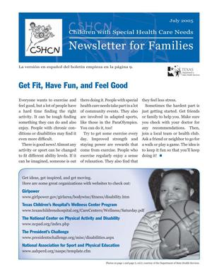 Primary view of object titled 'Children with Special Health Care Needs: Newsletter for Families, July 2005'.