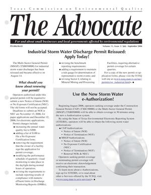 Primary view of object titled 'The Advocate, Volume 11, Issue 3, July-September 2006'.