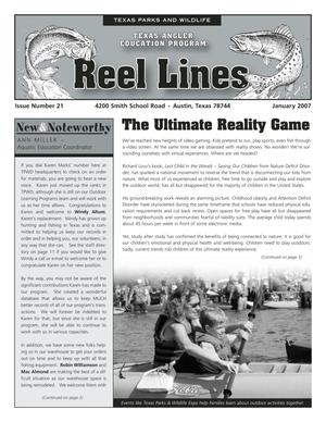 Primary view of object titled 'Reel Lines, Issue Number 21, January 2007'.