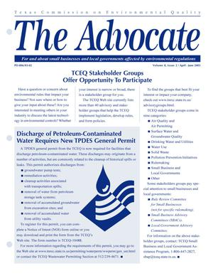 Primary view of object titled 'The Advocate, Volume 8, Issue 2, April-June 2003'.