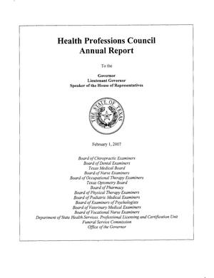 Primary view of object titled 'Texas Health Professions Council Annual Report: 2006'.
