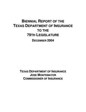 Primary view of object titled 'Biennial Report to the 79th Texas Legislature: Department of Insurance'.