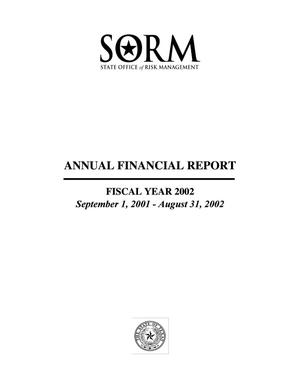 Primary view of object titled 'Texas State of Office Risk Management Annual Financial Report: 2002'.