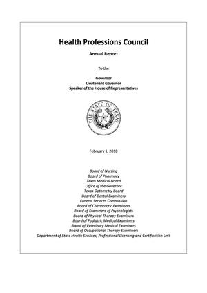 Primary view of object titled 'Texas Health Professions Council Annual Report: 2009'.
