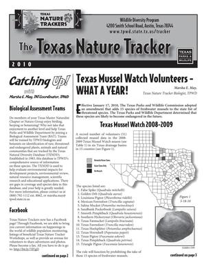 Primary view of object titled 'The Texas Nature Tracker, 2010'.