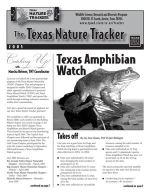 Primary view of object titled 'The Texas Nature Tracker, 2005'.