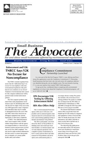 Primary view of object titled 'The Advocate, Volume 4, Issue 3, May - June 1999'.