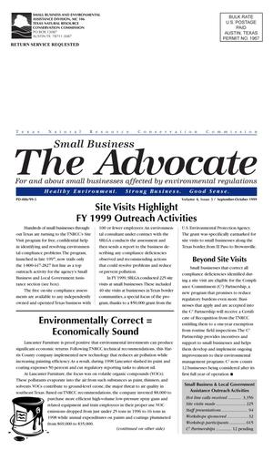 Primary view of object titled 'The Advocate, Volume 4, Issue 5, September-October 1999'.
