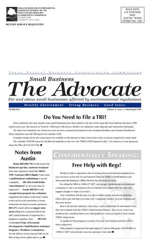 Primary view of object titled 'The Advocate, Volume 4, Issue 2, March-April 1999'.
