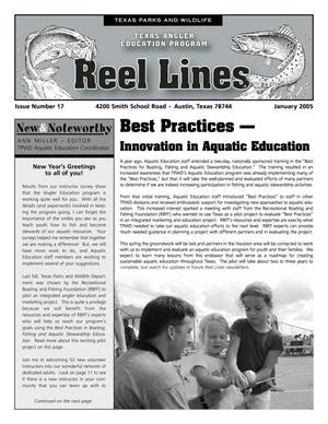 Primary view of object titled 'Reel Lines, Issue Number 17, January 2005'.