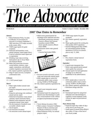 Primary view of object titled 'The Advocate, Volume 11, Issue 4, October-December 2006'.