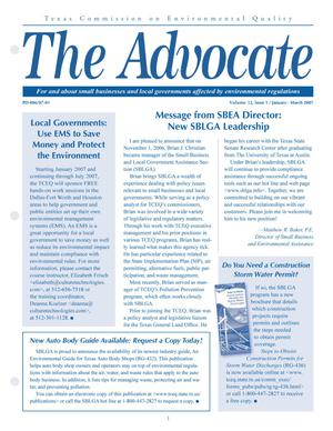 Primary view of object titled 'The Advocate, Volume 12, Issue 1, January-March 2007'.