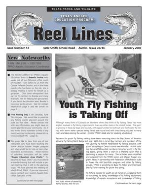 Primary view of object titled 'Reel Lines, Issue Number 13, January 2003'.