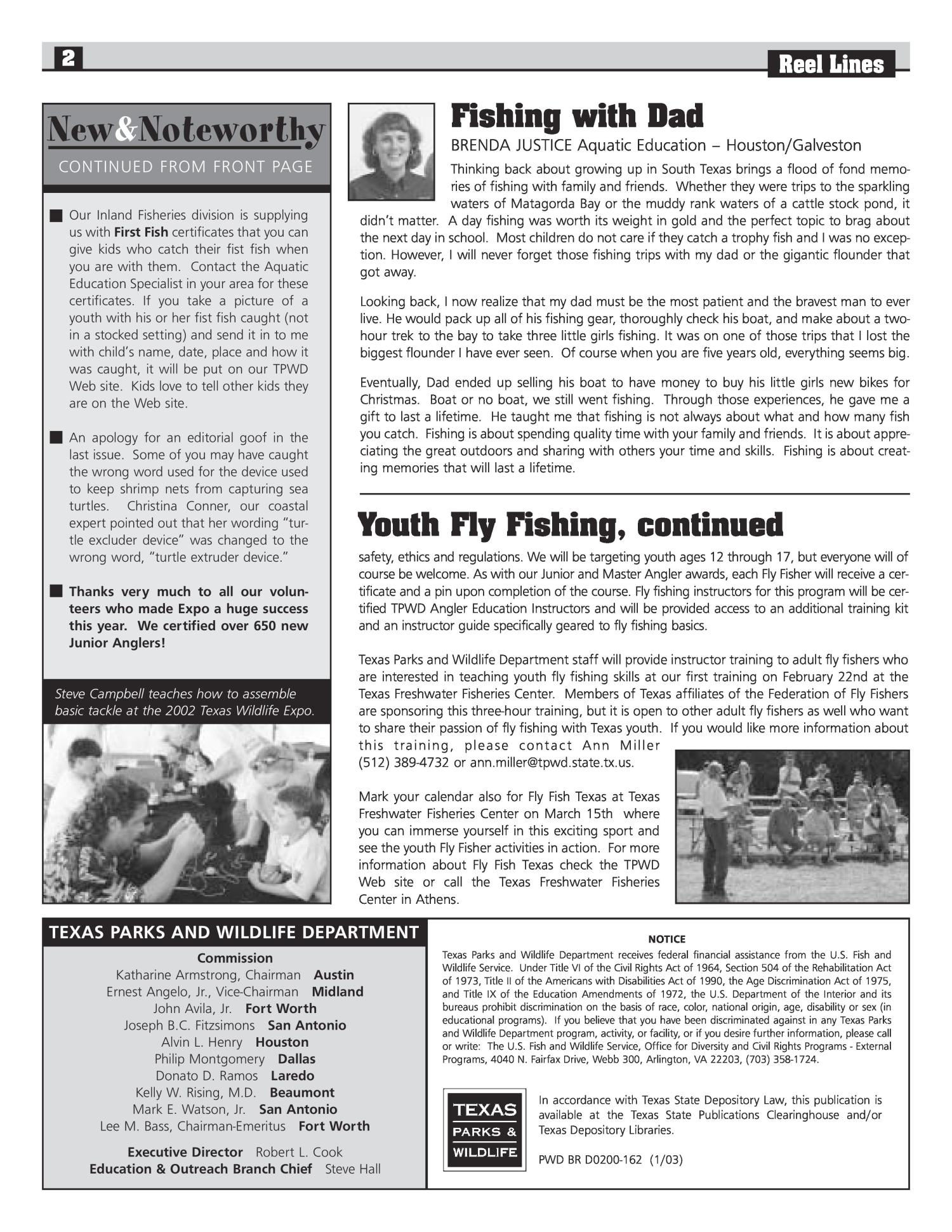 Reel Lines, Issue Number 13, January 2003                                                                                                      2