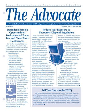 Primary view of object titled 'The Advocate, Volume 9, Issue 2, April-June 2004'.