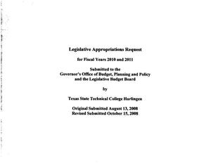Primary view of object titled 'Texas State Technical College Harlingen Requests for Legislative Appropriations: 2010 and 2011'.