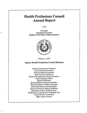 Primary view of object titled 'Texas Health Professions Council Annual Report: 2004'.