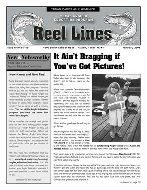 Primary view of object titled 'Reel Lines, Issue Number 19, January 2006'.