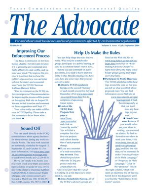 Primary view of object titled 'The Advocate, Volume 9, Issue 3, July-September 2004'.