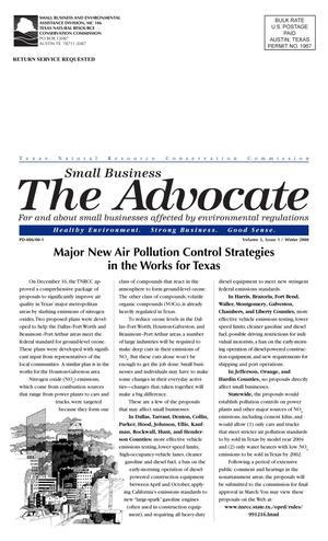 Primary view of object titled 'The Advocate, Volume 5, Issue 1, Winter 2000'.