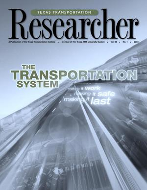 Primary view of object titled 'Texas Transportation Researcher, Volume 39, Number 1, 2003'.