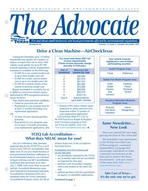 Primary view of object titled 'The Advocate, Volume 12, Issue 4, October-December 2007'.