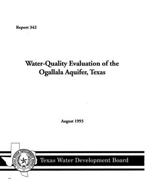 Primary view of object titled 'Water-Quality Evaluation of the Ogallala Aquifer, Texas'.