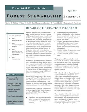 Primary view of object titled 'Forest Stewardship Briefings, April 2013'.
