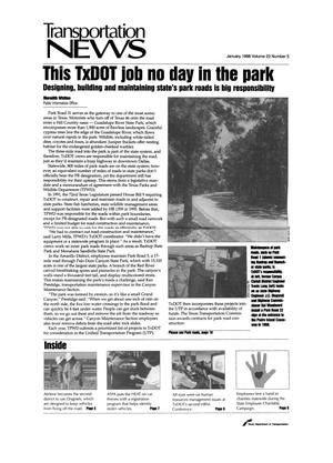 Primary view of object titled 'Transportation News, Volume 23, Number 5, January 1998'.