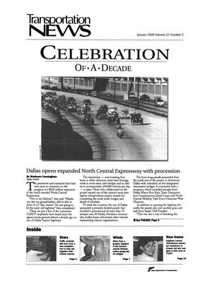 Primary view of object titled 'Transportation News, Volume 25, Number 5, January 2000'.