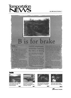 Primary view of object titled 'Transportation News, Volume 23, Number 11, July 1998'.