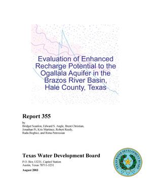 Primary view of object titled 'Evaluation of Enhanced Recharge Potential to the Ogallala Aquifer in the Brazos River Basin, Hale County, Texas'.
