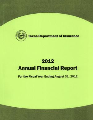 Primary view of object titled 'Texas Department of Insurance Annual Financial Report: 2012'.