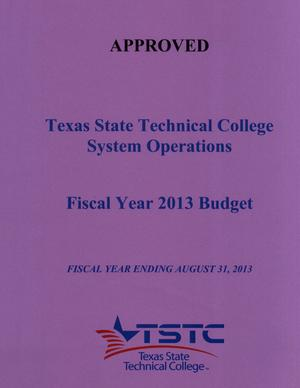 Primary view of object titled 'Texas State Technical College System Operations Budget: 2013'.