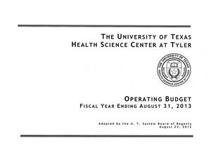 Primary view of object titled 'University of Texas Health Science Center at Tyler Operating Budget: 2013'.