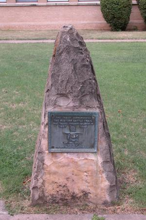 Primary view of object titled 'Western Cattle Trail Monument, Coleman County'.