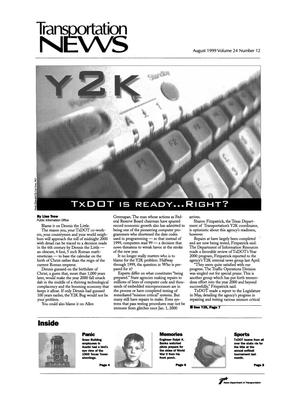 Primary view of object titled 'Transportation News, Volume 24, Number 12, August 1999'.