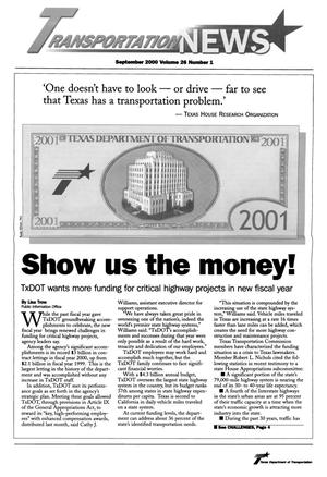 Primary view of object titled 'Transportation News, Volume 26, Number 1, September 2000'.
