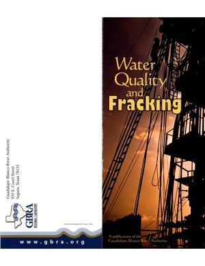 Primary view of object titled 'Water Quality and Fracking'.